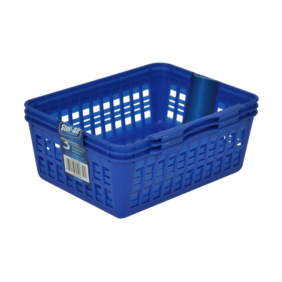 Small Interlocking Organizer Basket (3 Pack)