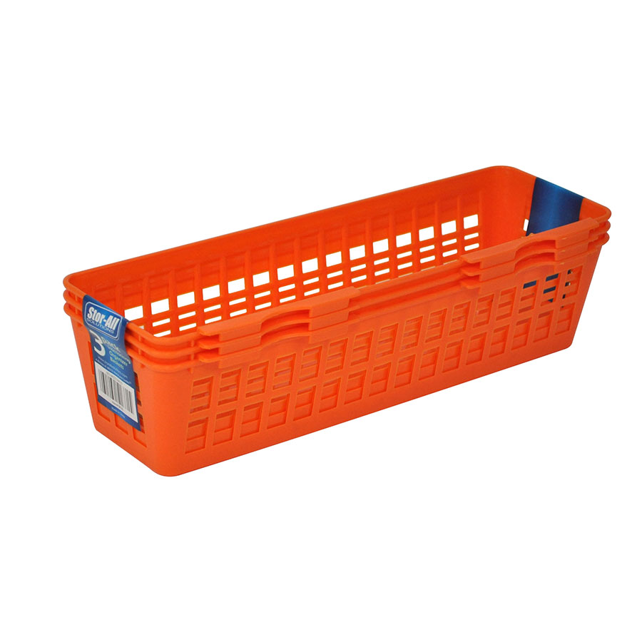 Slim Interlocking Organizer Basket (3 Pack)