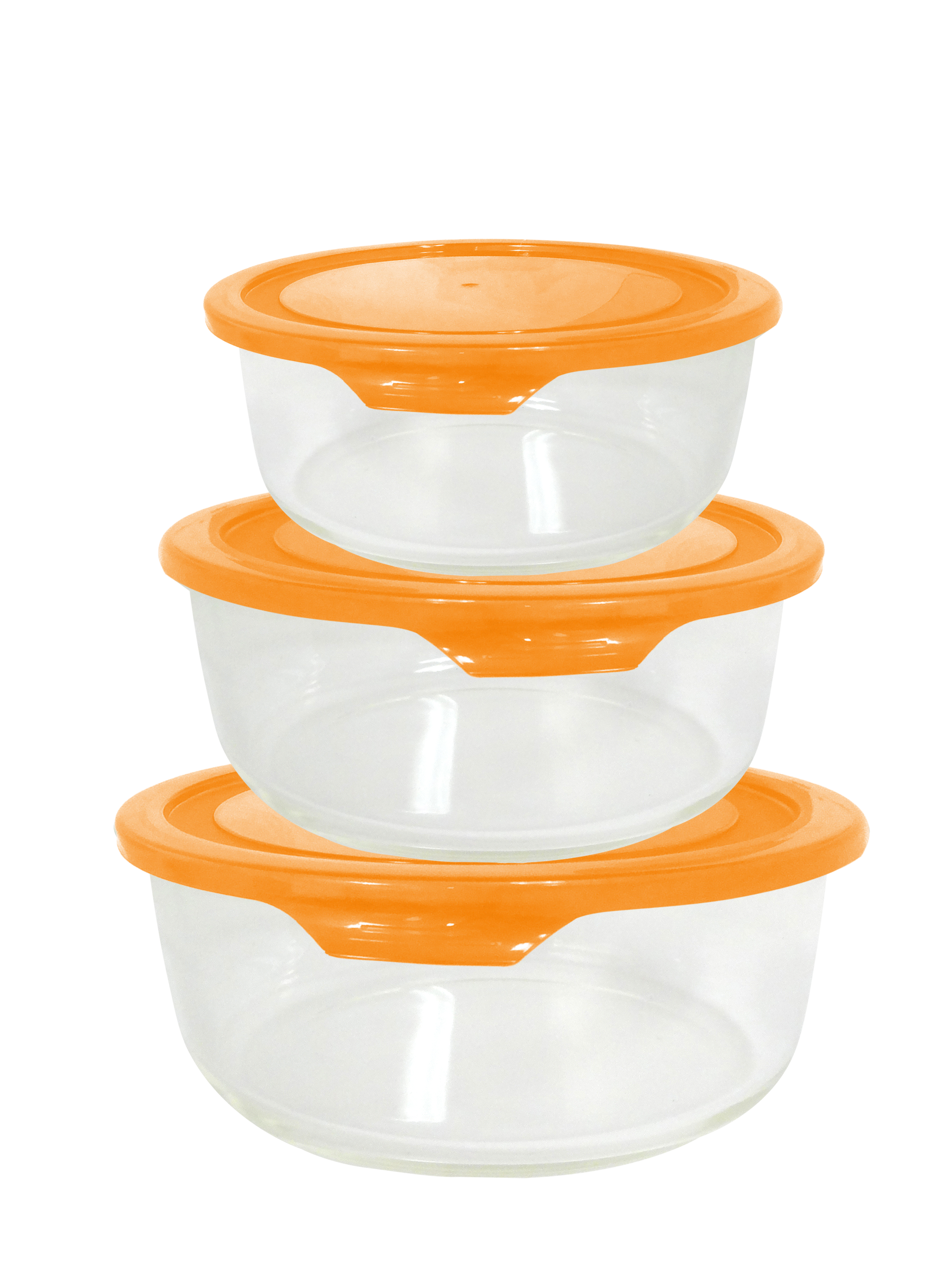 6 Piece Round Glass Food Storage Set