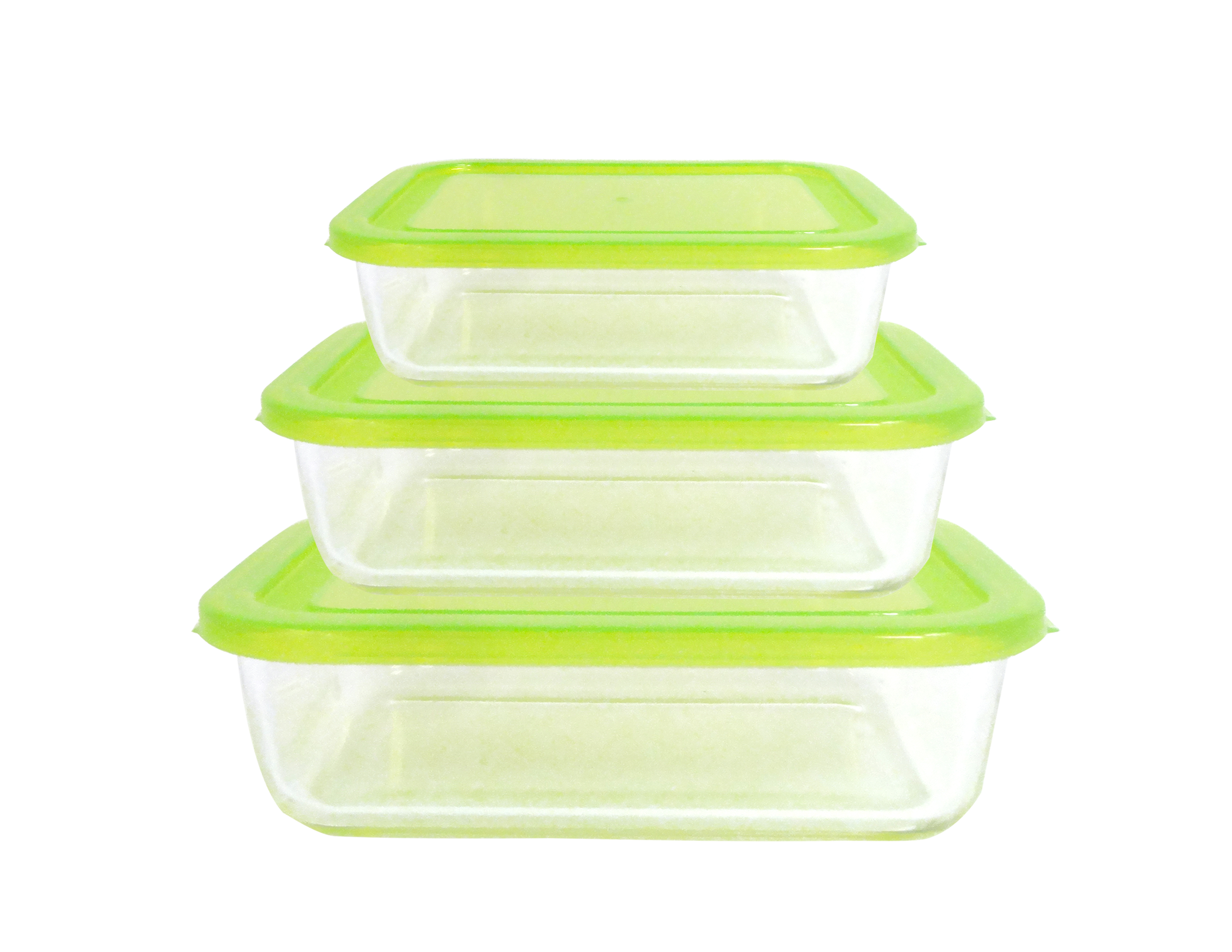 6 Piece Rectangle Glass Food Storage Set