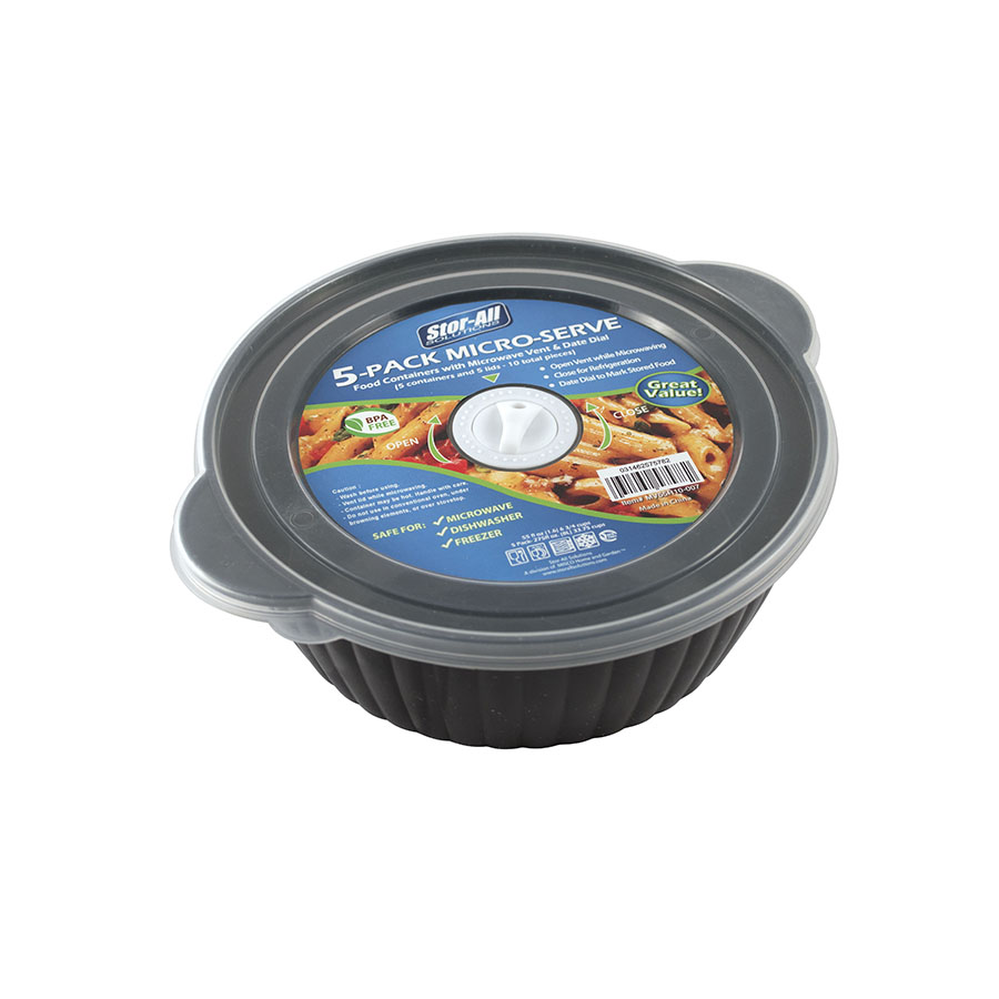 6.75 Cup Round Micro-Serve Container (5 Pack)