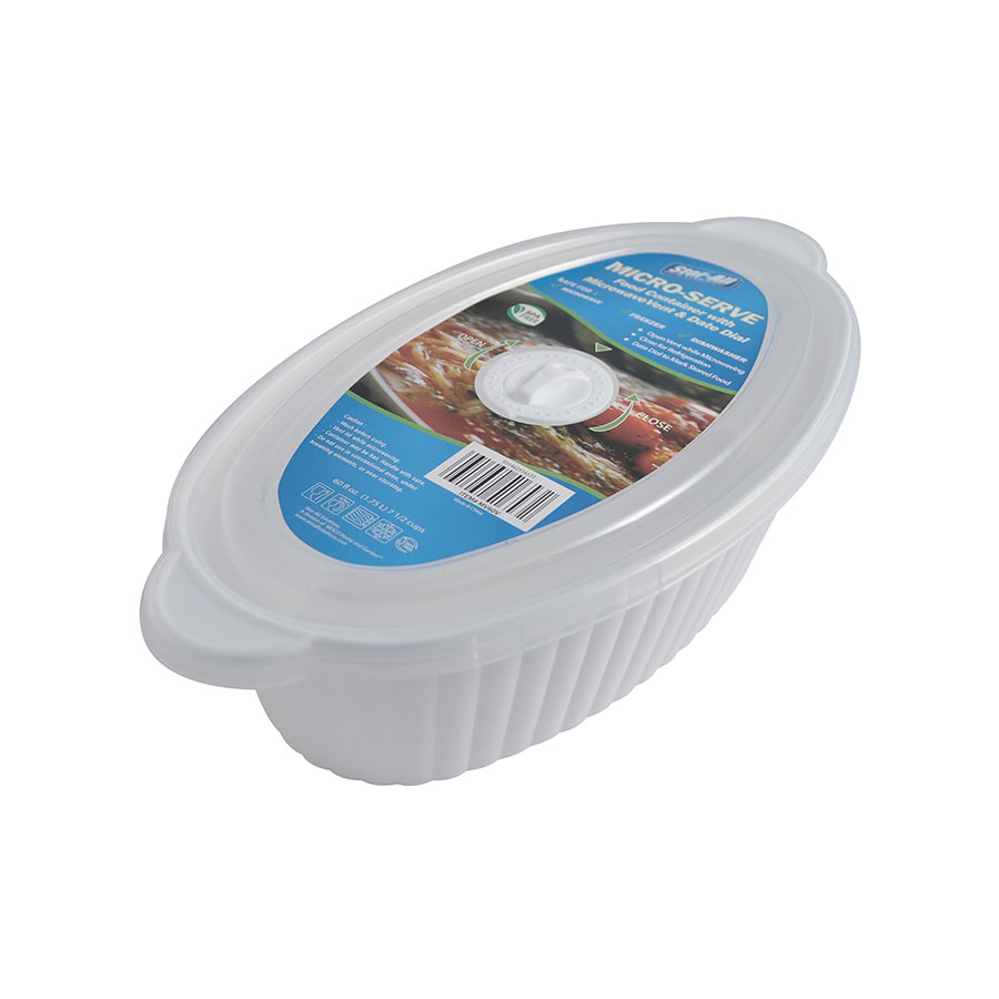 7.5 Cup Oval Micro-Serve Container (5 Pack)