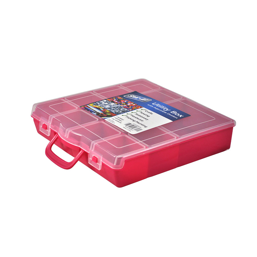Portable Storage Box w/ Adjustable Dividers