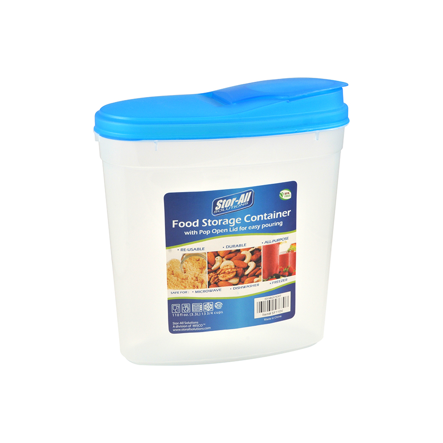 110 Oz (13.75 Cup) Food Keeper w/ Pop Open Lid