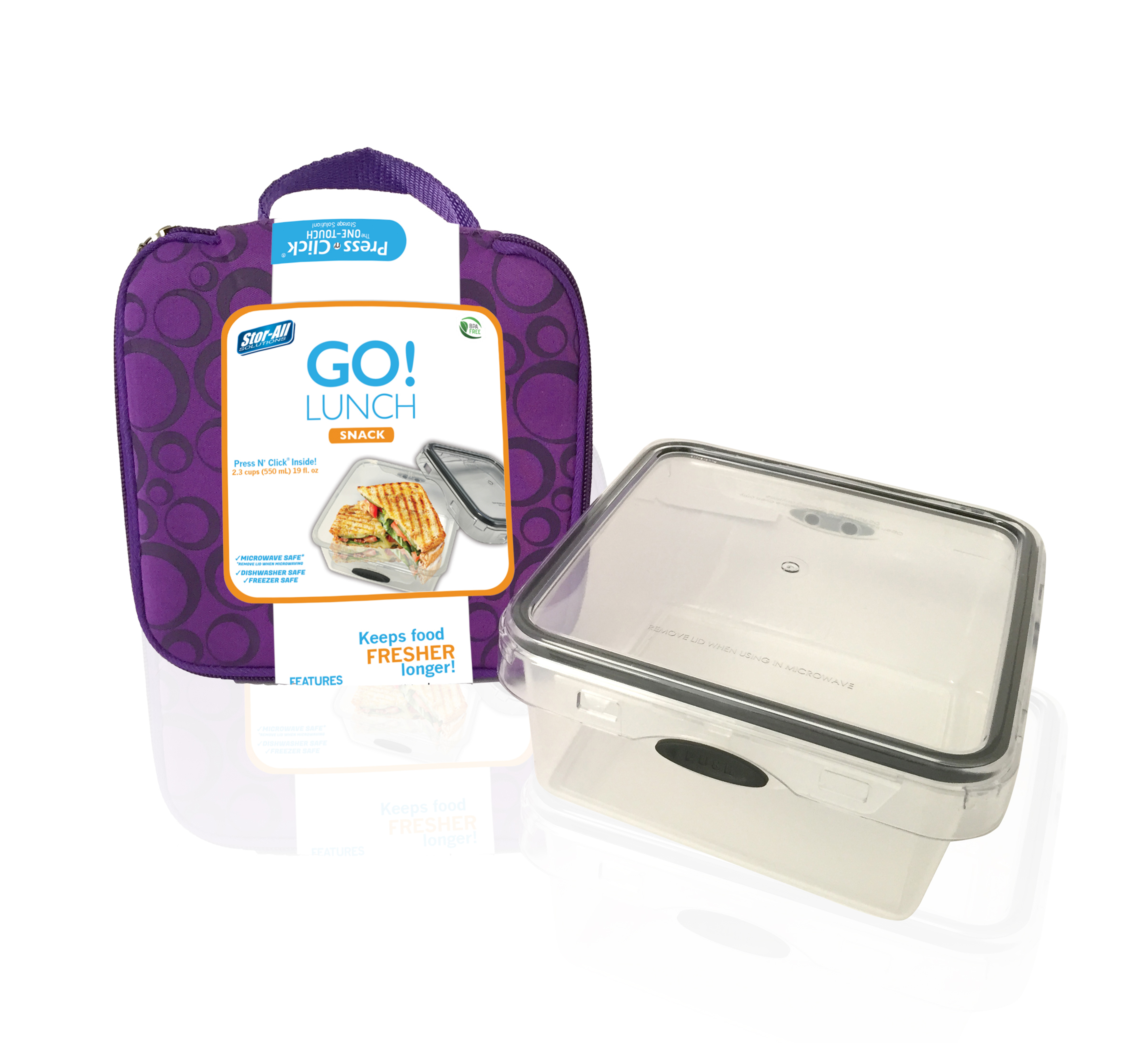 Go! Lunch Salad (Includes 4.9 Cup Square Press N' Click Container)